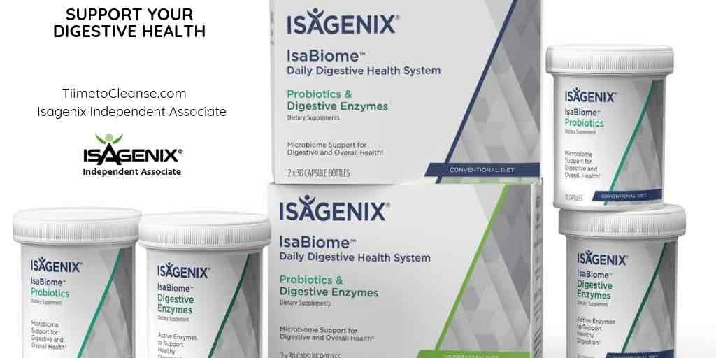 isagenix isabiome digestive health with isagenix independent associate logo