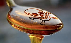 spoon with high frutose corn syrup