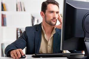 Man at office desk