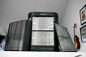 air purifier with filters inside home