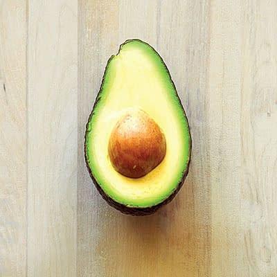 avocado half opened