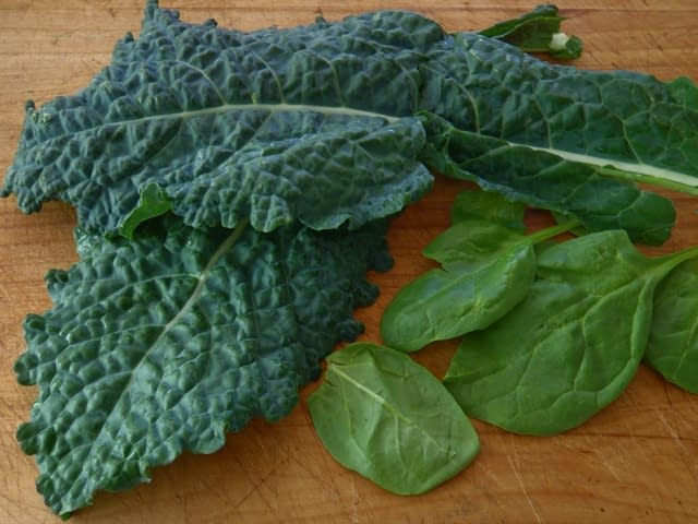 spinach and kale