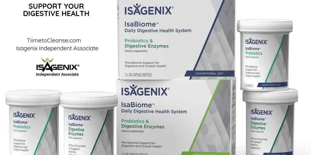 isagenix isabiome digestive health with isagenix independent associate logo