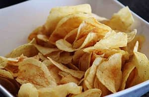 potato chips in a bowl