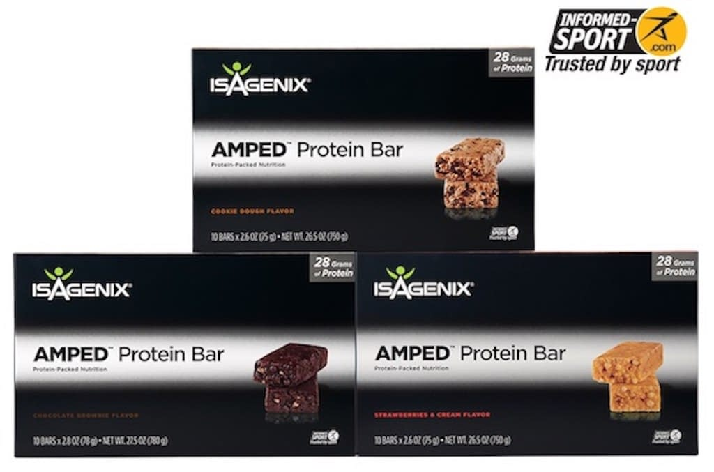Boxes of AMPED Protein Bars