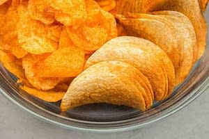 processed potato chips and pringles