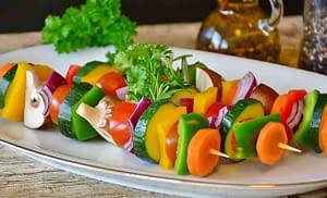 colorful vegetable skewers