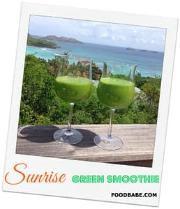 sunrise green smoothie