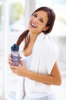 healthy woman cleansing
