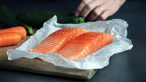 salmon on a wrapper