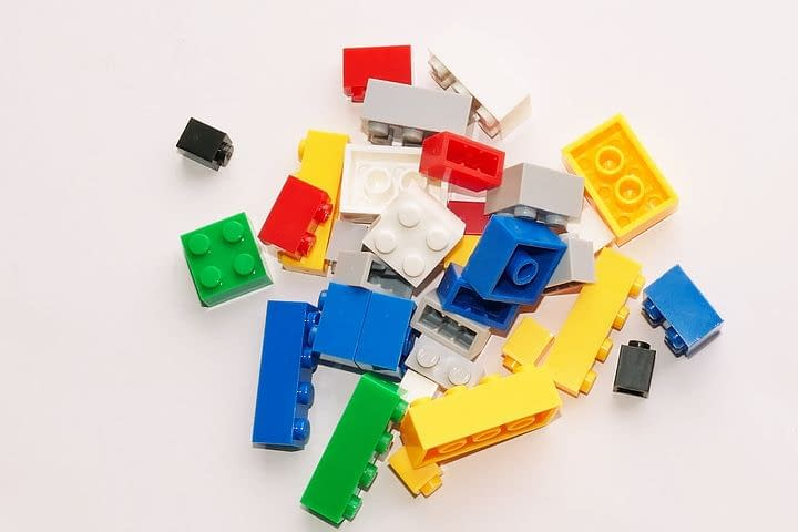 colorful plastic legos