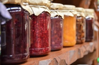 glass food jars