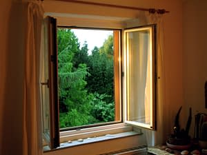 Clean Home - Fresh Air - Open Window