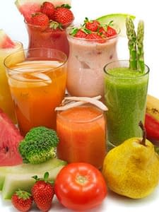 juice and smoothie selection