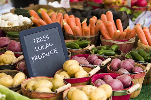 fresh local produce sign