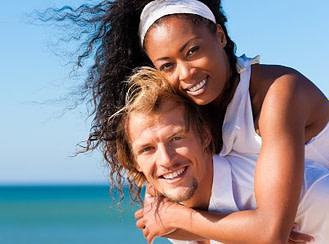 vibrant healthy couple