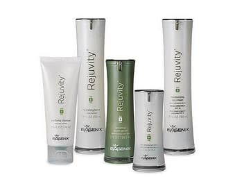 The line of Rejuvity skin care products